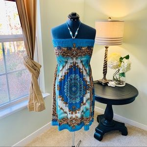 Just Love Patterned Tube/Halter Dress NWT Size 1X